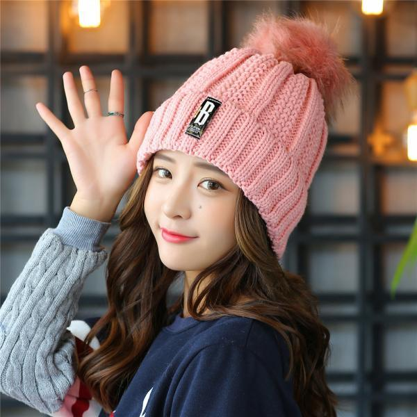Free Shipping Super Cute Hat Knit Cap For Winter - Pink
