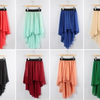 Fashion Skirt Ladies Long Maxi Skirt Elastic Waist (8 Colors)