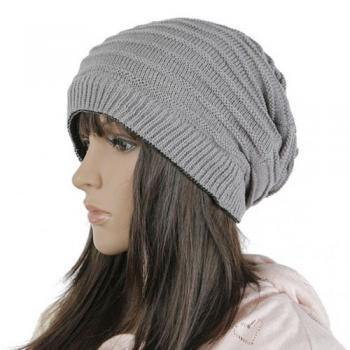 Free shipping Women Knitted Hat Cap - Grey