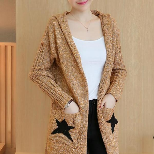 Fashion Star Pattern Warm Coat Cardigans