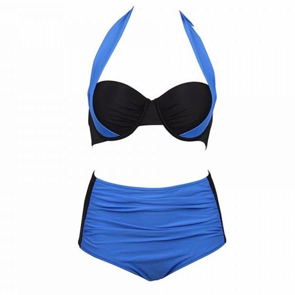 New Sexy Halter Bikinis Women Swimsuit High Waisted Bathing Suits