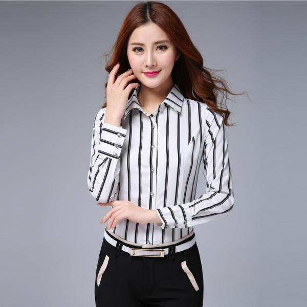 Fashion Print Long Sleeve Shirt For Women
