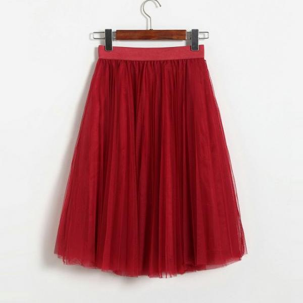 New Spring And Summer Gauze Skirt Women Sweet Princess Skirt