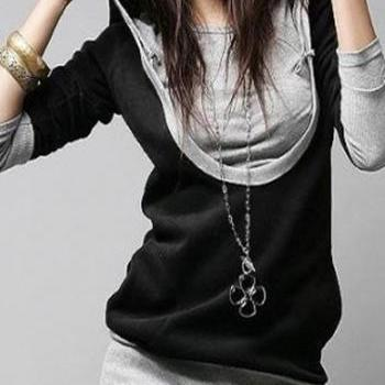High Quality Long Sleeve Hooded Collar Woman Sweats