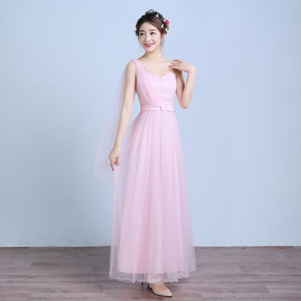 Beautiful One Shoulder Strapless Long Dress - Pink