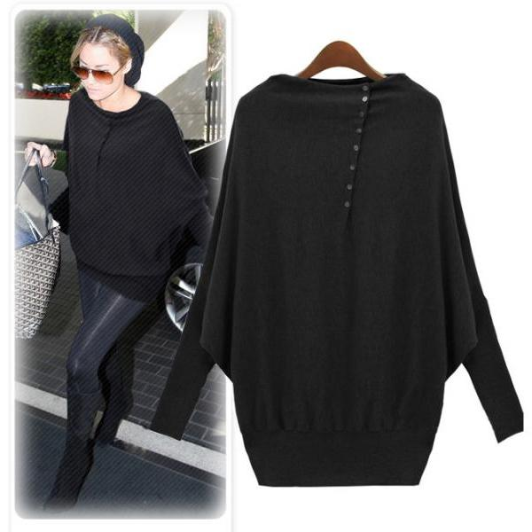 Fashion Batwing Sleeve Pullover For Women ( 2 Colors)