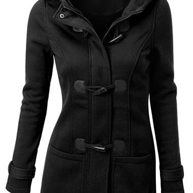 Fashion Single Breasted Long Sleeve Black Coat(4colors)