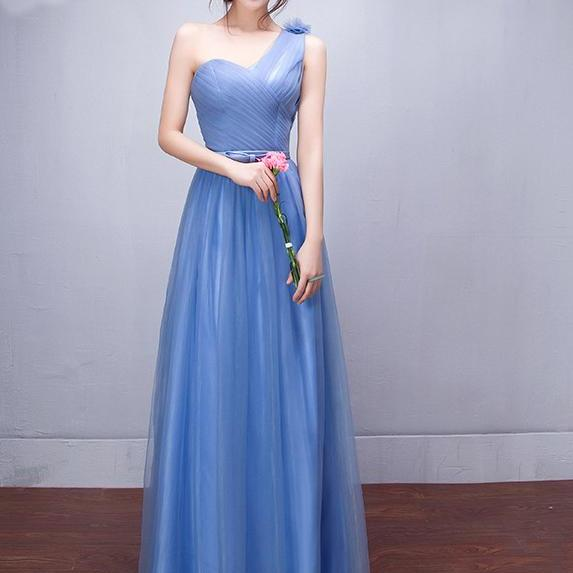 Fashion Designer One Shoulder Party Dress Bridesmaid Dresses