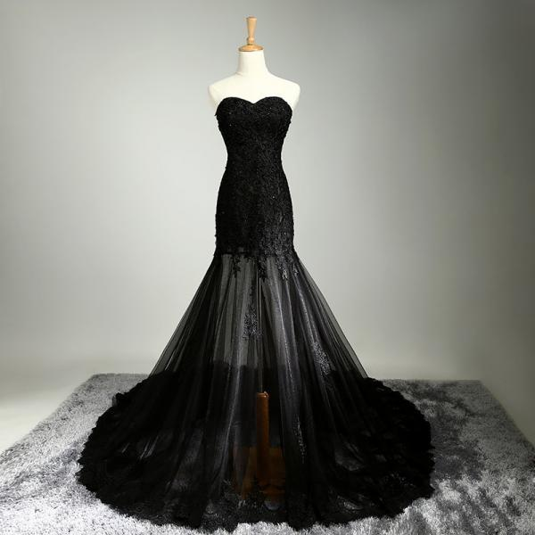 High Quality Beautiful Wedding And Evening Dress - Black